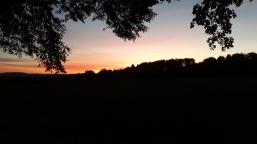 Sonnenuntergang in einer Stadt, die es nicht gibt