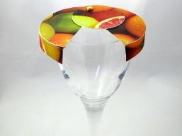 Schirmchen für Weißweinglas