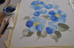 Blauer Mohnblume