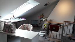 Mein Arbeitsplatz im selbst ausgebauten Dachgeschoss