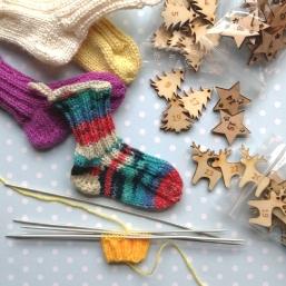 Adventkalender-Socken