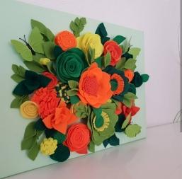 Filzblumen Blumen Bilder Filz Filzarbeit