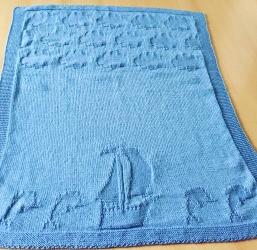Babydecke für kleine Seemänner