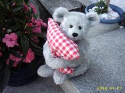 Benny mit seinem Kissen
