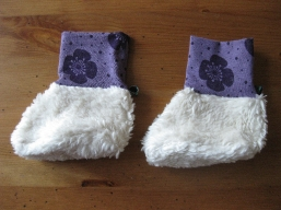 Bio Baby Schuhe Blüten purple