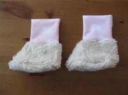 Bio Baby Schuhe Mäuse rosa