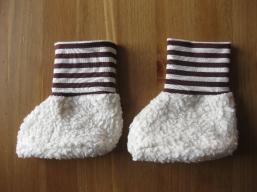 Bio Baby Schuhe Ringel braun-natur