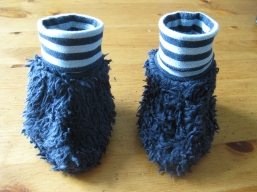 Bio Baby Schuhe Ringel dunkelblau