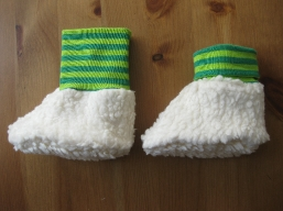 Bio Baby Schuhe Ringel grün