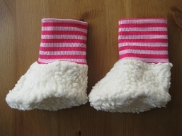 Bio Baby Schuhe Ringel pink
