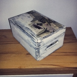 Box Decoupage Servietten Technik Vintage