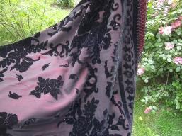 Decke aus Samt und Seide