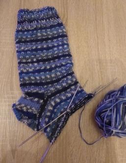 Der erste Socken-Versuch
