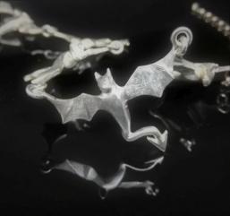 Drachencollier aus Silber