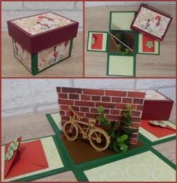 Geldgeschenkverpackung Fahrrad