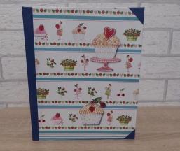 Handgefertigtes Ringbuch für DIN A5 - Cupcake