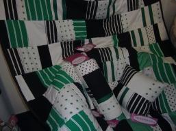 Grüne Patchworkprodukte