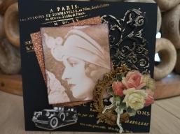 Grußkarte Lady