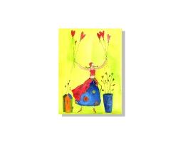 Herzballon-Kartenentwurf