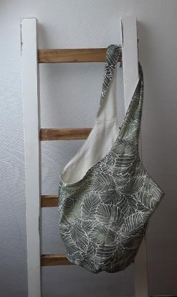 Knotenbeutel Motiv Blattgrün