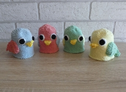 Kunterbunte Eierwärmer - Vögel