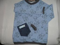 Kuschlige Mitwachshose mit Taschen und Shirt mit Taschen