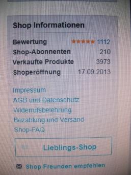 meine DaWanda Shop- Information