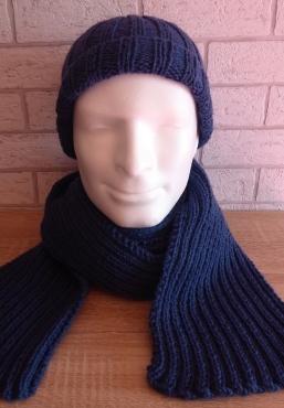 Mütze und Schal - blau