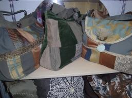 Patchworktaschen in grün