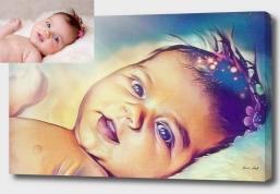 Portrait - Von Fotovorlage - Kunstdruck