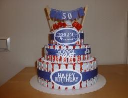 Schoki-Geburtstags-Torte 3-stöckig