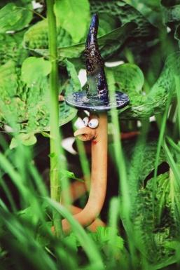 Seltsamer Besucher im Garten