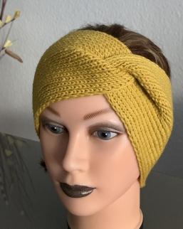 Stirnband in honigfarben