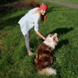 Stirnband mit Hund