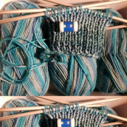 superdicke Socken entstehen