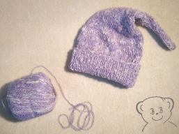 WIP ... Baby Kuschelsack und Mütze