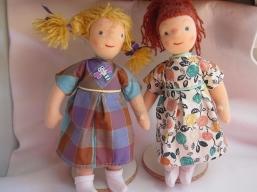 Zwillings Puppen fertig