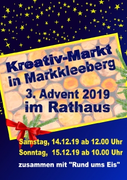 2. Kreativmarkt am 3. Advent in Markkleeberg