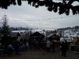Mein Blick über einen Teil vom Altensteiger Weihnachtsmarkt
