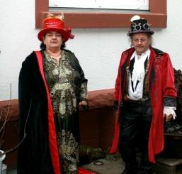 Unser erster Steampunkstand auf Burg Satzvey Burg