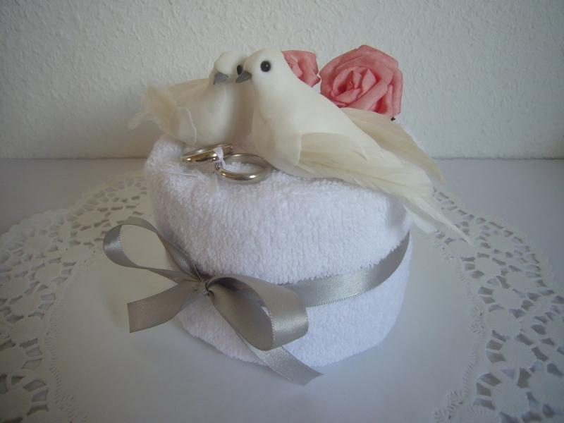 Kleinesbild - Hochzeit Geschenk Geldgeschenk Tauben Rosen Hochzeitsgeschenk