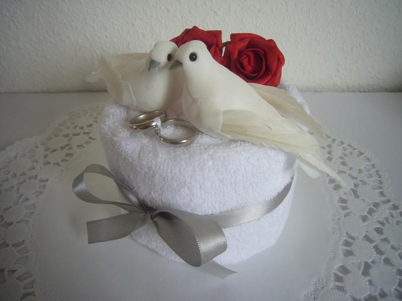 Kleinesbild - Geldgeschenke Hochzeit Hochzeitsgeschenke Tauben Ringe rote Rosen Standesamt