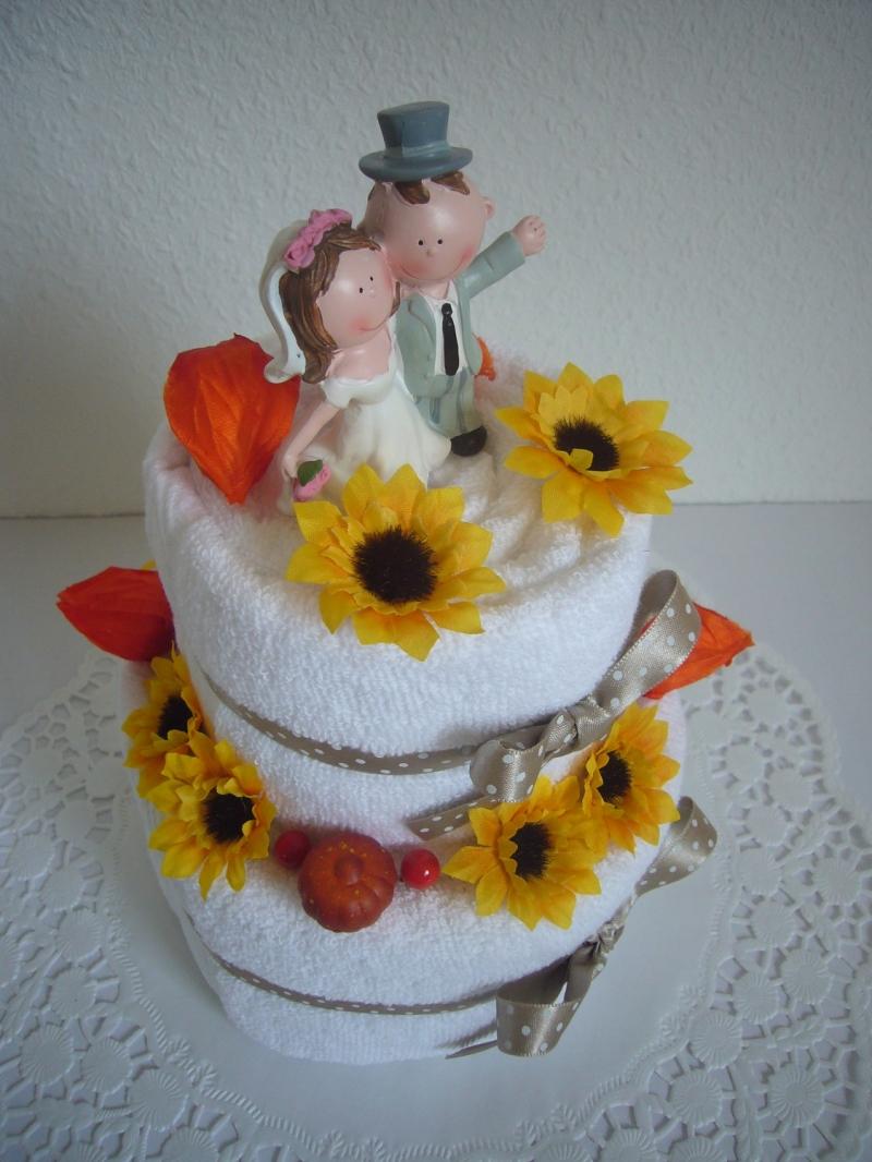 Kleinesbild - Hochzeitsgeschenk Torte Herbst Geldgeschenk orange Geschenk Hochzeit