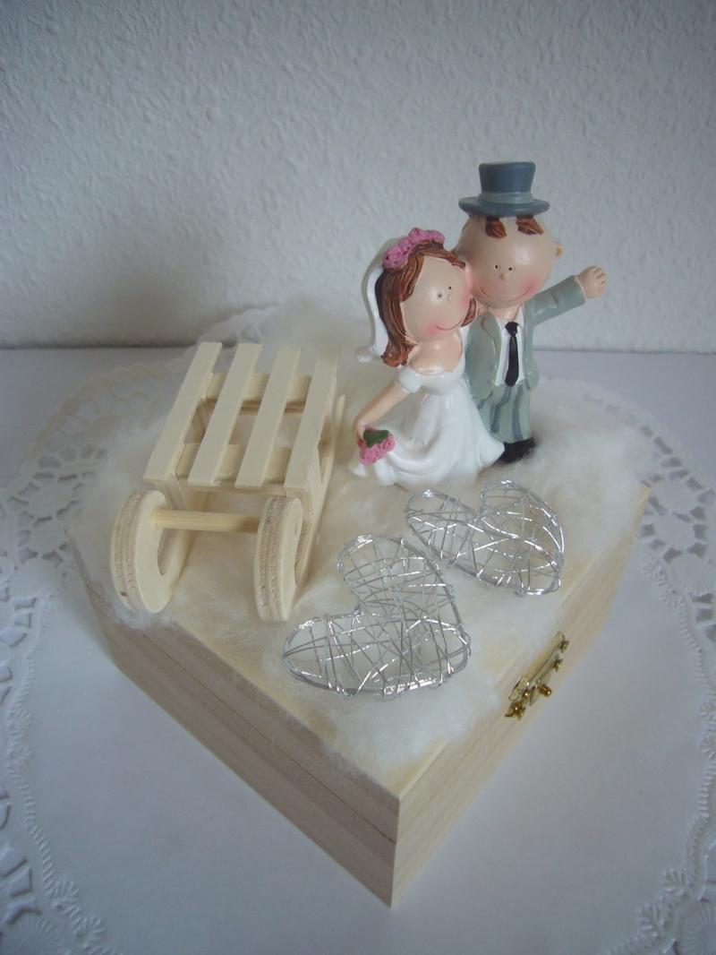 Kleinesbild - Hochzeitsgeschenk Geldgeschenk Geschenkbox Winter Hochzeit