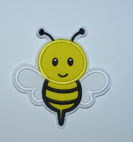 - Stickapplikation, gestickter Aufnäher  Biene - Stickapplikation, gestickter Aufnäher  Biene