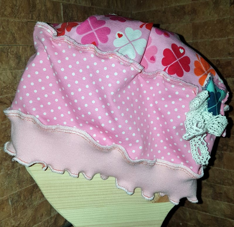 -  ♥ Handmade ♥   rosa Traum Mädchen  Beanie Klee  KU 52- 58  ♥   -  ♥ Handmade ♥   rosa Traum Mädchen  Beanie Klee  KU 52- 58  ♥