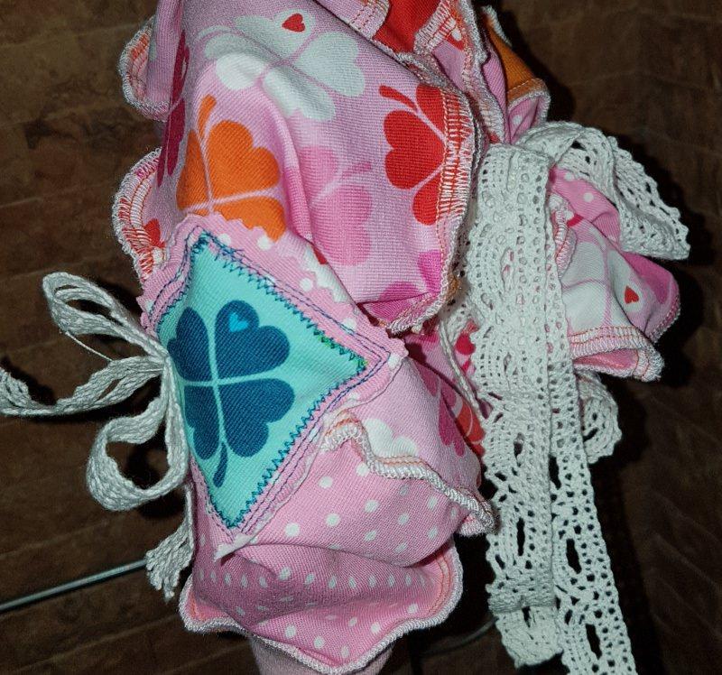 Kleinesbild -  ♥ Handmade ♥   rosa Traum Mädchen  Beanie Klee  KU 52- 58  ♥