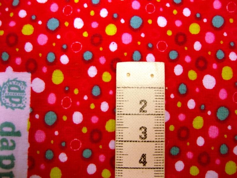 Kleinesbild - Jersey mit bunten Wassertropfen auf rot oder türkis