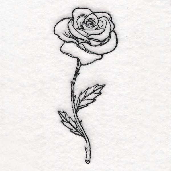 - Rose in Bloom - aufgeblühte Rose Patch gestickt Applikation  - Rose in Bloom - aufgeblühte Rose Patch gestickt Applikation