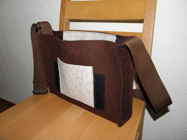 Kleinesbild - Dieda-quer, Basis-Tasche hellmeliert, braun, für Wechselklappen, Wechsellasche, Wechselklappentaschen